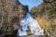 Yutaki falls. One of the well known waterfalls in Nikko, Japan. It is sometimes known as Yudaki falls.  It is 70m high Stock Images