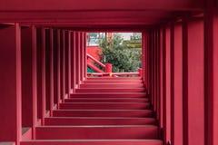 Yutoku Inari Shrine. Structure below Yutoku Inari Shrine in Kashima, Japan Royalty Free Stock Images