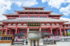 Yutong Avalokitesvara Hall is one of the temple that located in The Three Pagodas of Chongsheng Temple near Dali Old Town, Yunnan Stock Photo