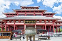 Yutong Avalokitesvara Salão é um do templo que localizou nos três pagodes do templo de Chongsheng perto de Dali Old Town, Yunnan Foto de Stock