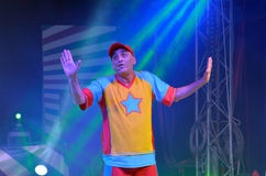 Yuval shem tov during his show as Yuval Hamebulbal character Royalty Free Stock Image