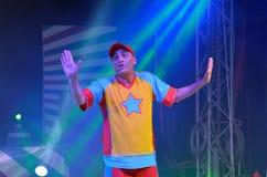 Yuval shem tov podczas jego przedstawienia jako Yuval Hamebulbal charakter Obraz Royalty Free