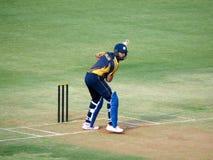 Yuvraj Singh batting in T-20 Match at Holkar Cricket Stadium-Indore royalty free stock photos