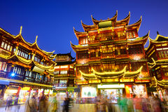 Yuyuan District of Shanghai China. Shanghai, China at Yuyuan Garden district Royalty Free Stock Photography