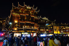 Yuyuan Garden and City Temple Stock Photography