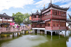 Yuyuan Garden Complex. It is an extensive Chinese garden located beside the City God Temple in the northeast of the Old City of Shanghai Stock Photo