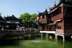 Yuyuan Gardens and Huxinting Tea House Shanghai Stock Photo