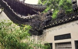Yuyuan-Garten roofline Shanghai China Lizenzfreie Stockfotografie