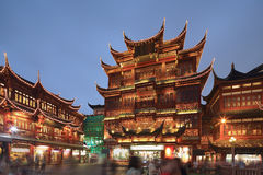 Yuyuan night scene Royalty Free Stock Image