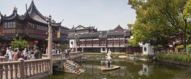 Yuyuan ogród w Szanghaj panoramicznym widoku Fotografia Stock
