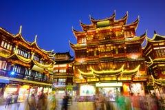 Yuyuan område av Shanghai Kina Royaltyfri Fotografi