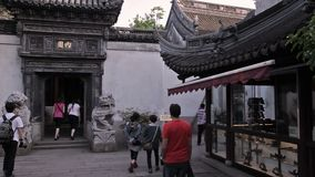 Yuyuan Shangchang historical architetrical stock footage