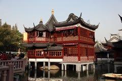 Yuyuan trädgård i Shanghai Arkivbilder