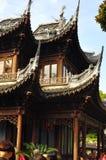 Yuyuan trädgård, Yu Yuan Park Temple Arkivfoto