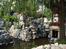 yuyuan trädgårds- shanghai Arkivbild