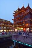 Yuyuan Turystyczna hala targowa w Szanghaj Chiny Obraz Royalty Free