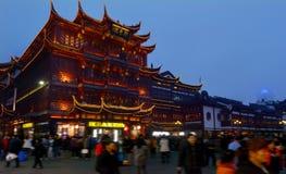Yuyuan Turystyczna hala targowa w Szanghaj Chiny Zdjęcie Royalty Free