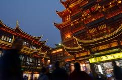 Yuyuan Turystyczna hala targowa w Szanghaj Chiny Zdjęcia Royalty Free