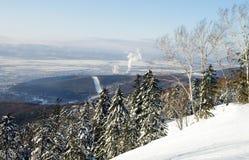 Yuzhno-Sakhalinsk, het Eiland van Sakhalin Royalty-vrije Stock Afbeeldingen