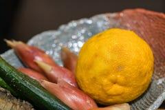 Yuzu - японский лимон Стоковое Изображение