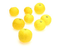 Yuzu in a white background Royalty Free Stock Photography