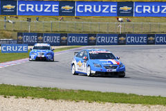 Yvan Muller in action at FIA WTCC Yokohama Indepen Royalty Free Stock Images