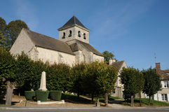 Yvelines, the church of Neauphle le Vieux Stock Images