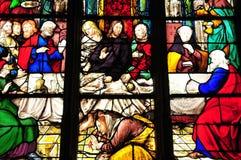 Yvelines, the church of Triel sur Seine Stock Image