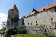 Free Yverdon`s Castle And Its Massive Tower Royalty Free Stock Images - 101878419