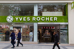 Yves Rocher shop on Champs Elysees Royalty Free Stock Photography