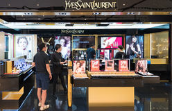 Yves Saint Laurent store in Siam Paragon Mall, Bangkok Royalty Free Stock Image