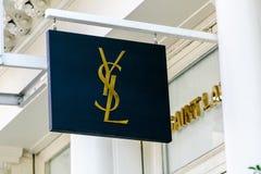Yves Saint Laurent sztandar Fotografia Royalty Free