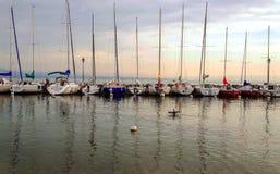 Yvoire озера в Франции Стоковые Фотографии RF