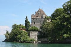 Yvoire城堡  免版税库存图片