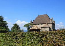 Yvoire castle, France. Famous old castle in Yvoire, Haute-Savoie, France. It is situated in the famous Yvoire medieval village well known for its beautiful Royalty Free Stock Images