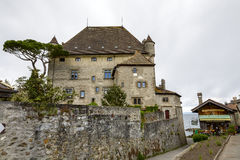 Yvoire Castle. YVOIRE, FRANCE - MAY 24, 2012: Yvoire Castle, known as Chateau d'Yvoire  built in the early XIV century by Amadeus V, in the years 1919 -1939 Royalty Free Stock Photo