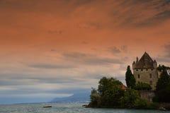 ` Yvoire del castillo francés d imagenes de archivo