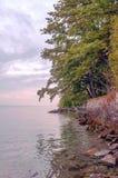 Yvoire del lago en Francia fotografía de archivo