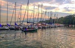 Yvoire do lago em França fotos de stock royalty free