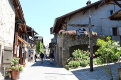 Yvoire, France. Yvoire is a medieval city built in the early 14th century Stock Photography