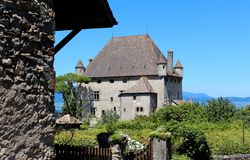 Yvoire, France. Yvoire is a medieval city built in the early 14th century Stock Images