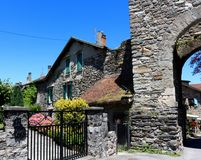 Yvoire, France. Yvoire is a medieval city built in the early 14th century Stock Photos