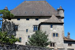 Yvoire, France. Yvoire is a medieval city built in the early 14th century Royalty Free Stock Photo