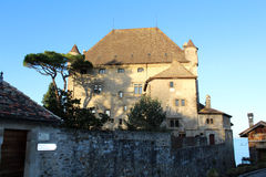 Yvoire in France. Yvoire is a small Medieval village in France on lake Leman Stock Photography