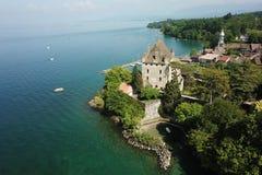 Yvoire Frankrike Arkivbild