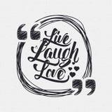 Żywa śmiech miłości ręki literowania wycena royalty ilustracja