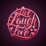 Żywa śmiech miłości ręki literowania wycena ilustracji