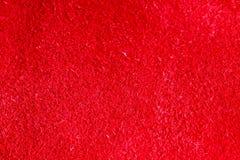 Żywa czerwień textured rzemienny skóry tła zbliżenie Obraz Royalty Free