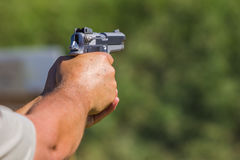 Żywa pistoletowa strzelanina Fotografia Royalty Free