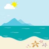 Żywa pogoda na plaży Fotografia Stock